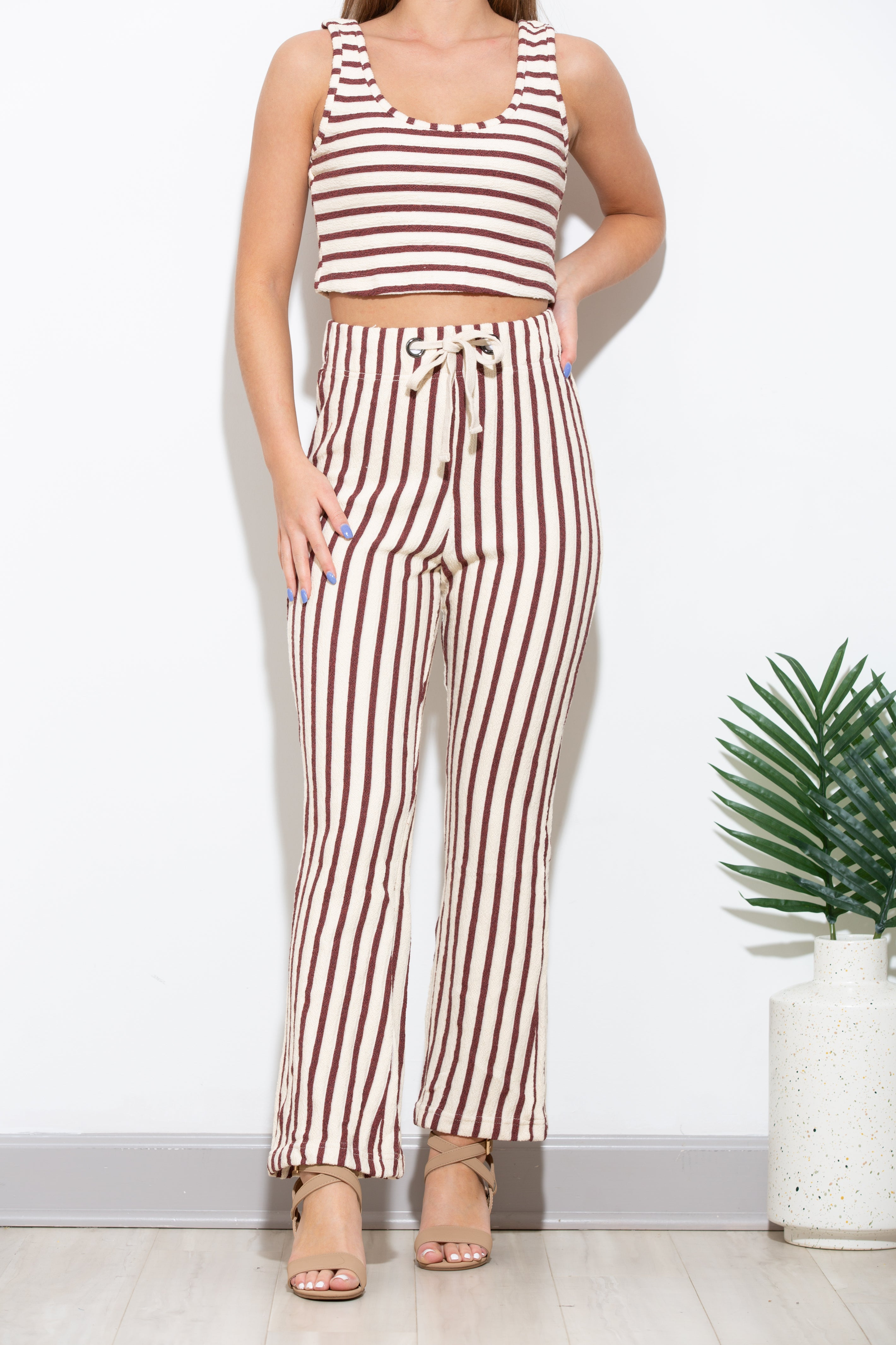 Out Of Office Two Piece Stripe Set
