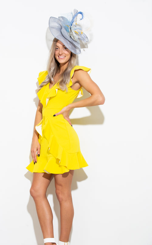 Turn Back Time Yellow Dress