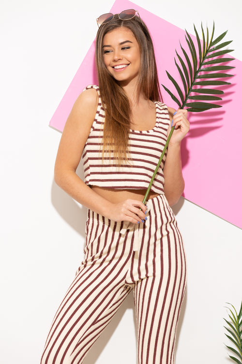 Out Of Office Two Piece Stripe Set - impromptu boutique