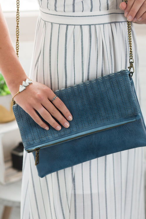 Say It Isn't So Denim Blue Purse - impromptu boutique
