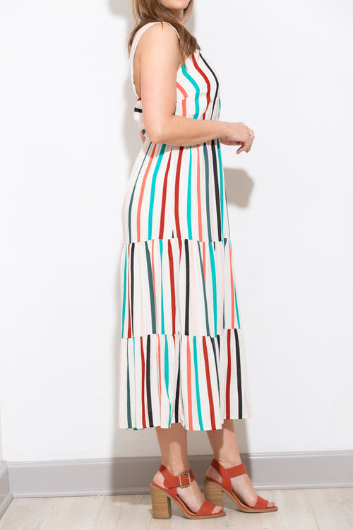 What I Like Stripe Midi Dress