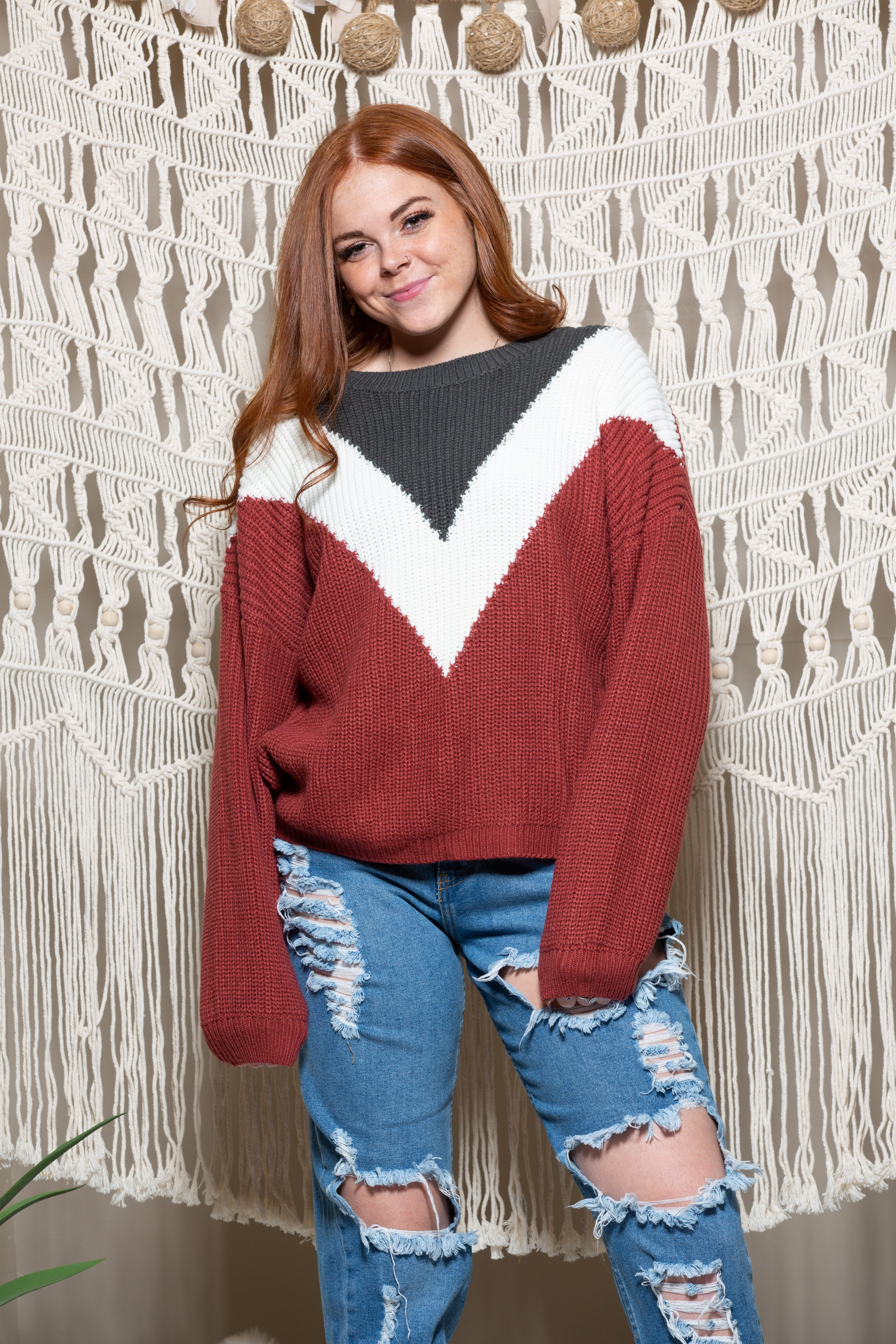 Just Hold On Colorblock Knit Sweater - impromptu boutique