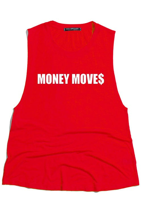 Money Moves Red Graphic Tank - impromptu boutique
