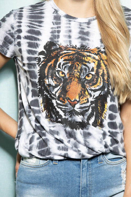 Eye Of The Tiger Tie Dye Tee