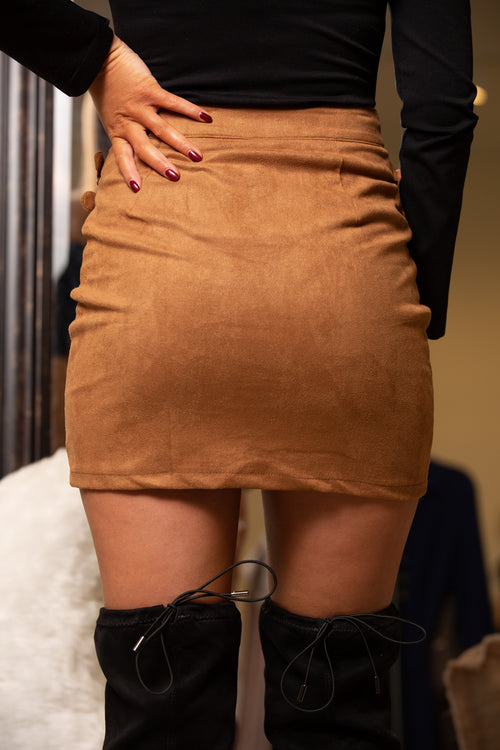 Haute To Trot Suede Mini Skirt