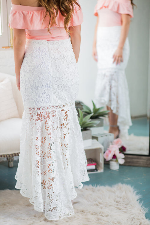 One Wish Lace Mermaid Skirt - impromptu boutique