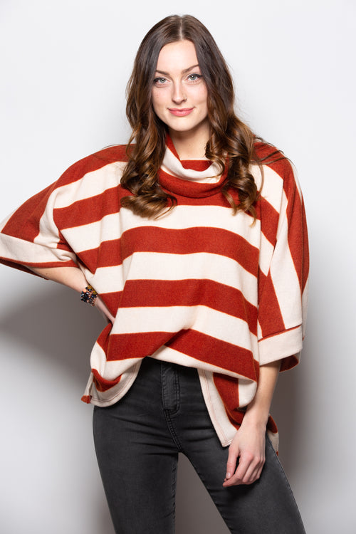 Here With Me Stripe Short Sleeve Sweater - impromptu boutique