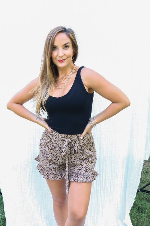 Want To Be Loved Leopard Shorts