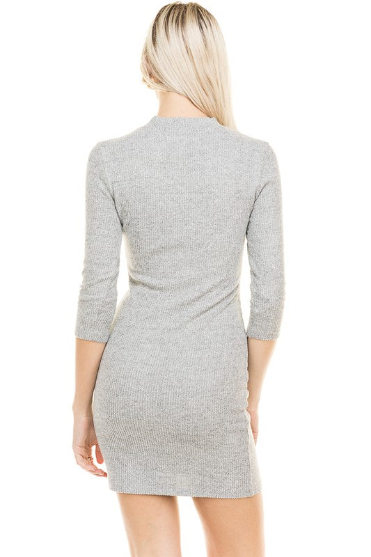 Thinking Of You Grey Sweater Dress