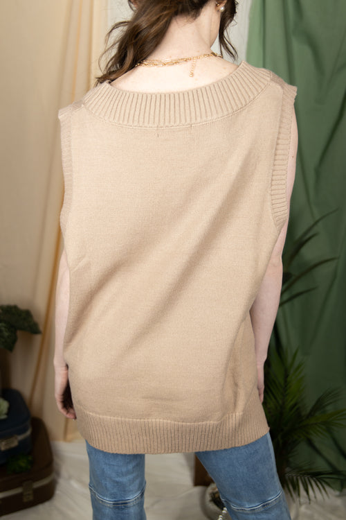 For The Moment Oversize Sweater Vest