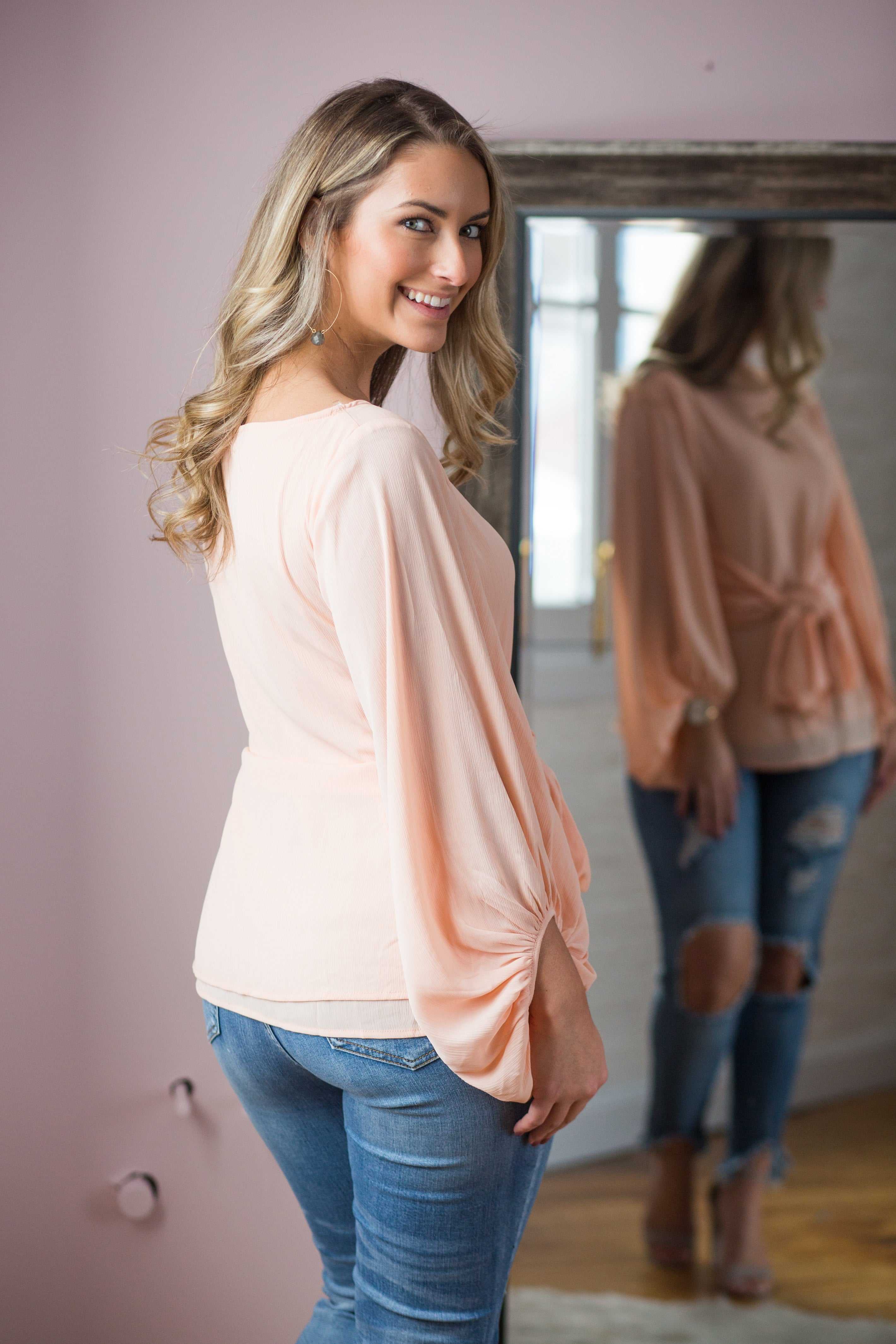 Making Me Blush Wrap Top - impromptu boutique