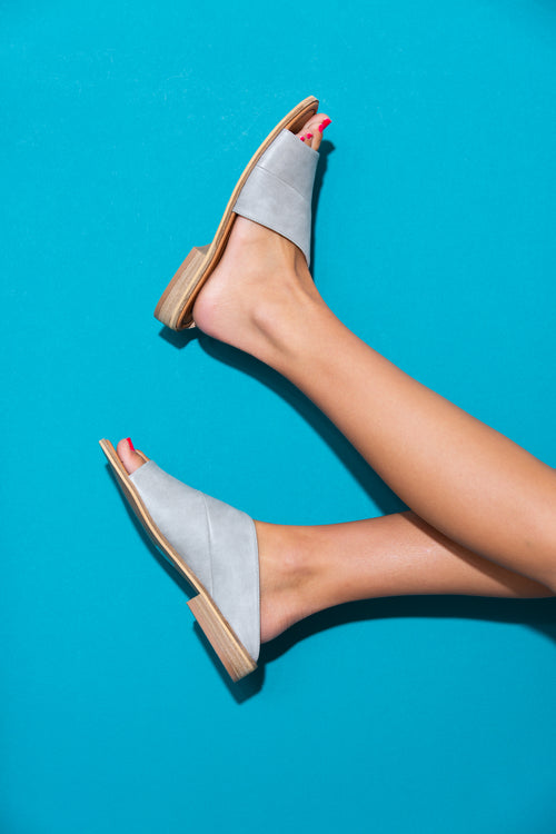 Andi Grey Slide Sandals - impromptu boutique