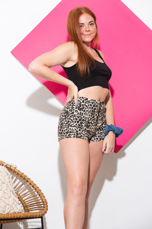 Set You Free Leopard Shorts