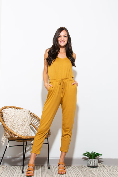 Everything About You Mustard Jumpsuit - impromptu boutique