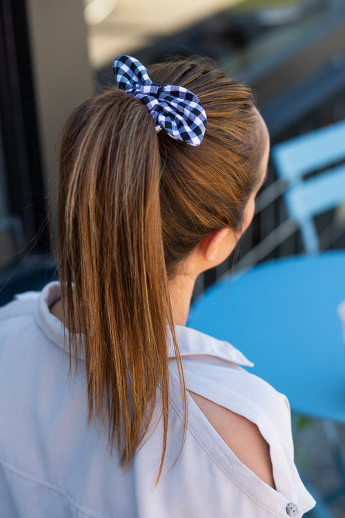 Tied Up Gingham Scrunchie