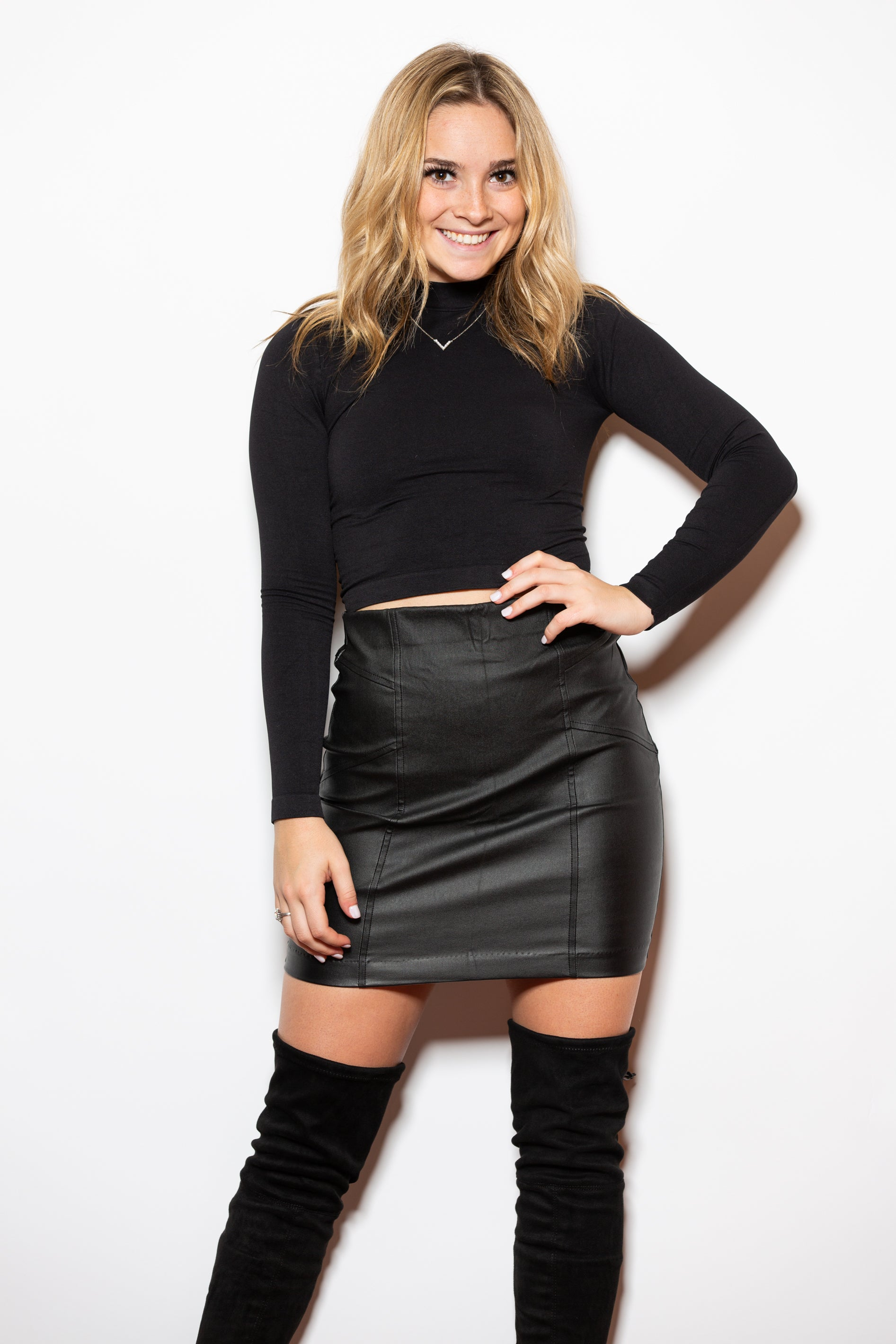 Love Or Lust Black Leather Mini Skirt