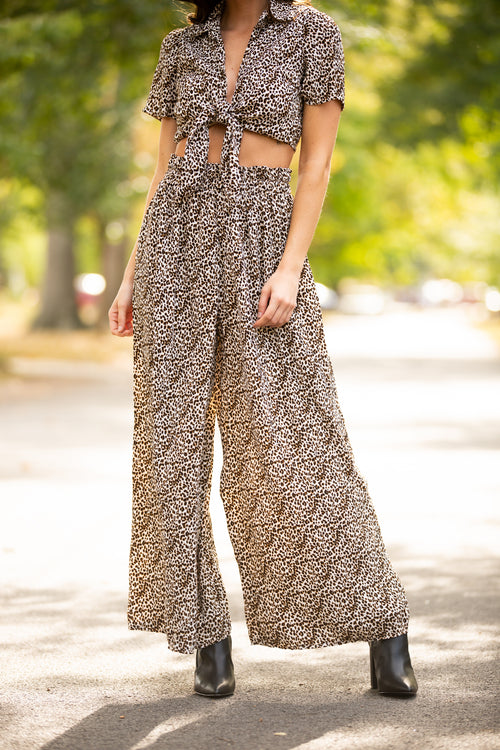 Born To Be Wild Two Piece Leopard Set - impromptu boutique