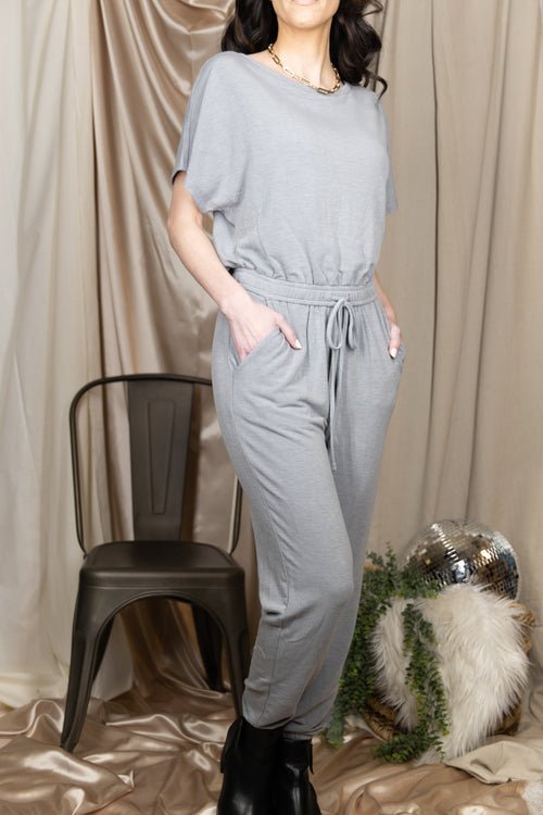 Count On You Grey Jumpsuit