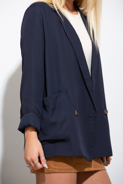 Rise To The Top Navy Blazer