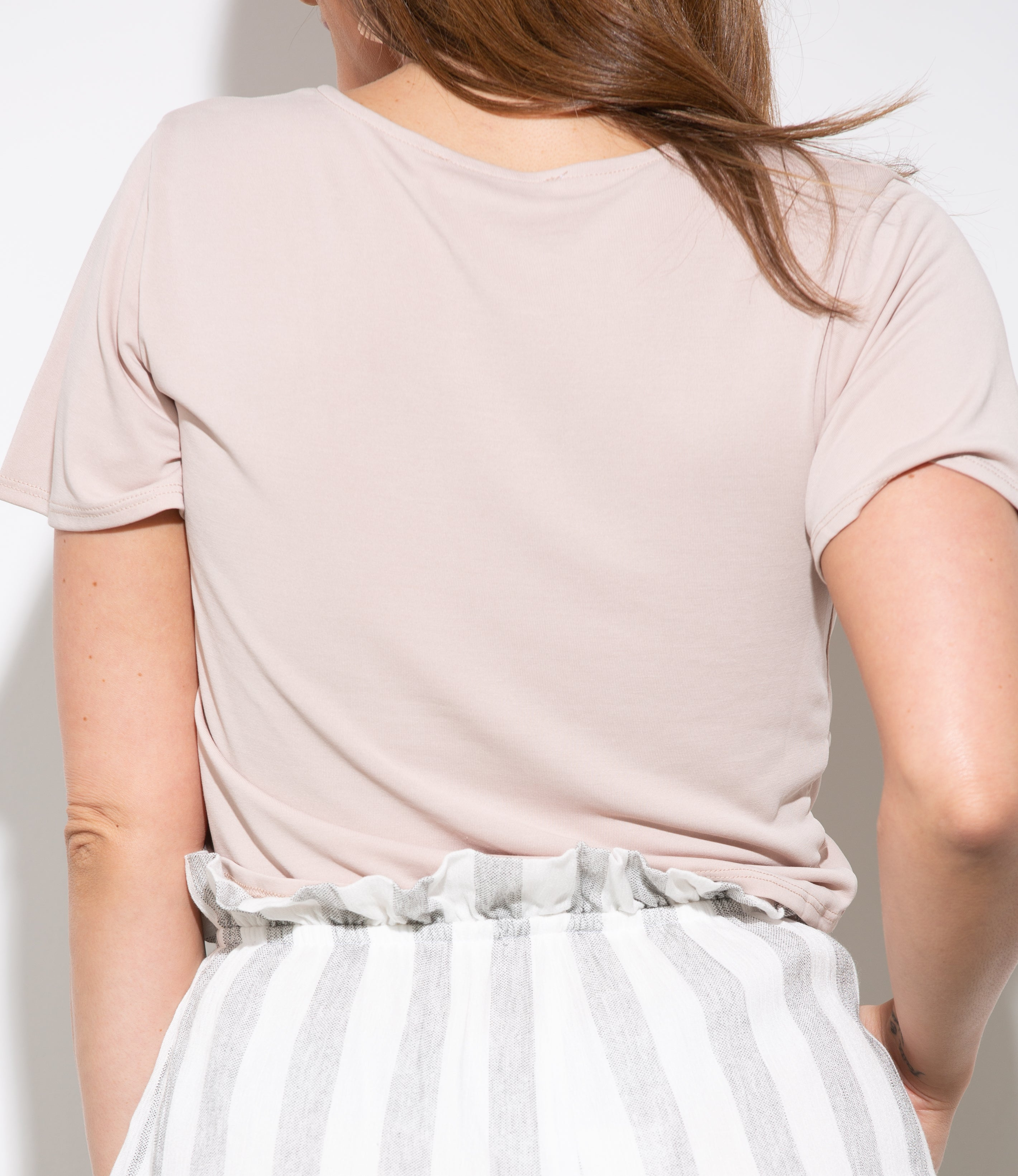 Wait For It Twist Nude Crop Top