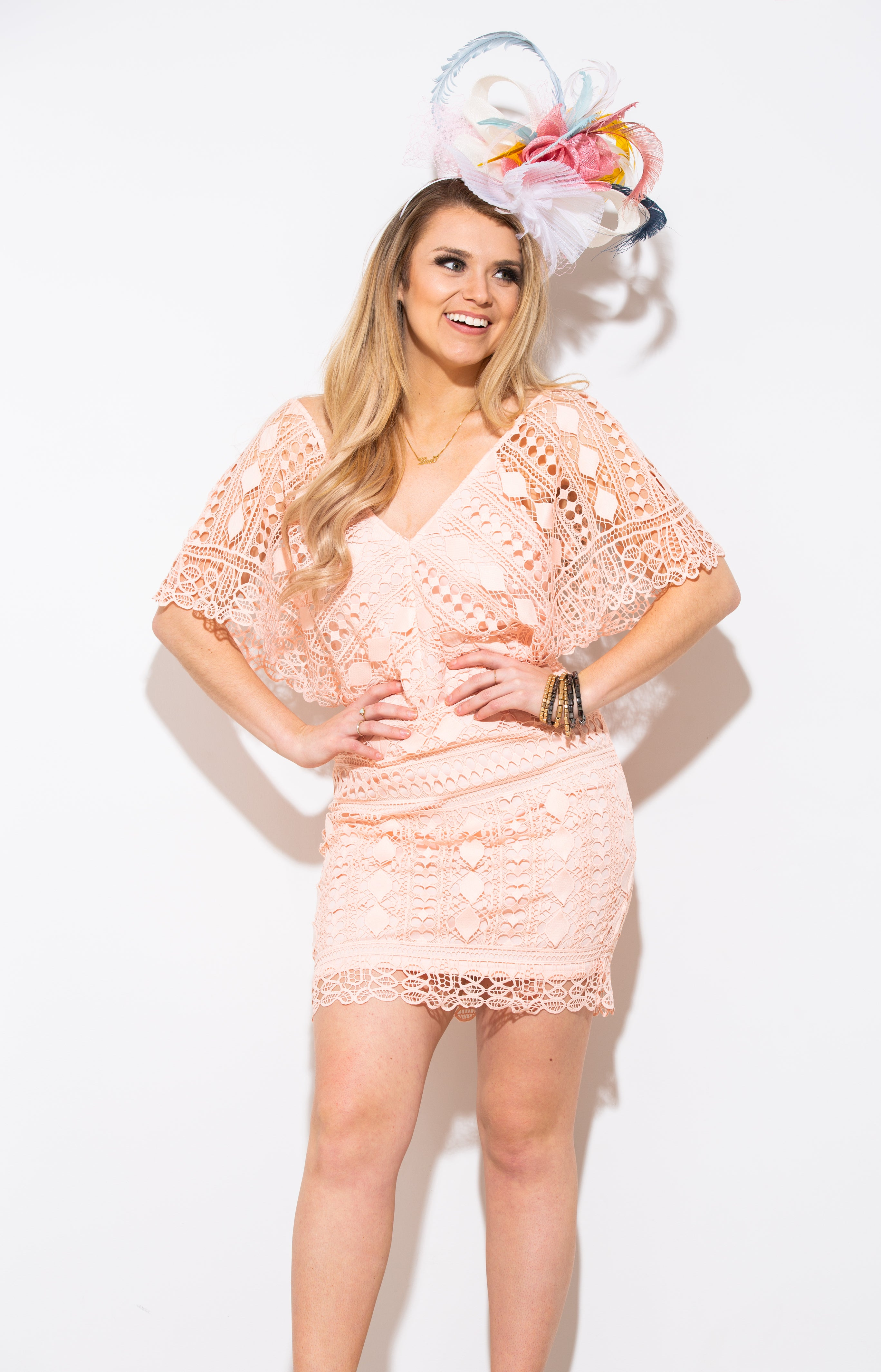Someone New Blush Lace Dress