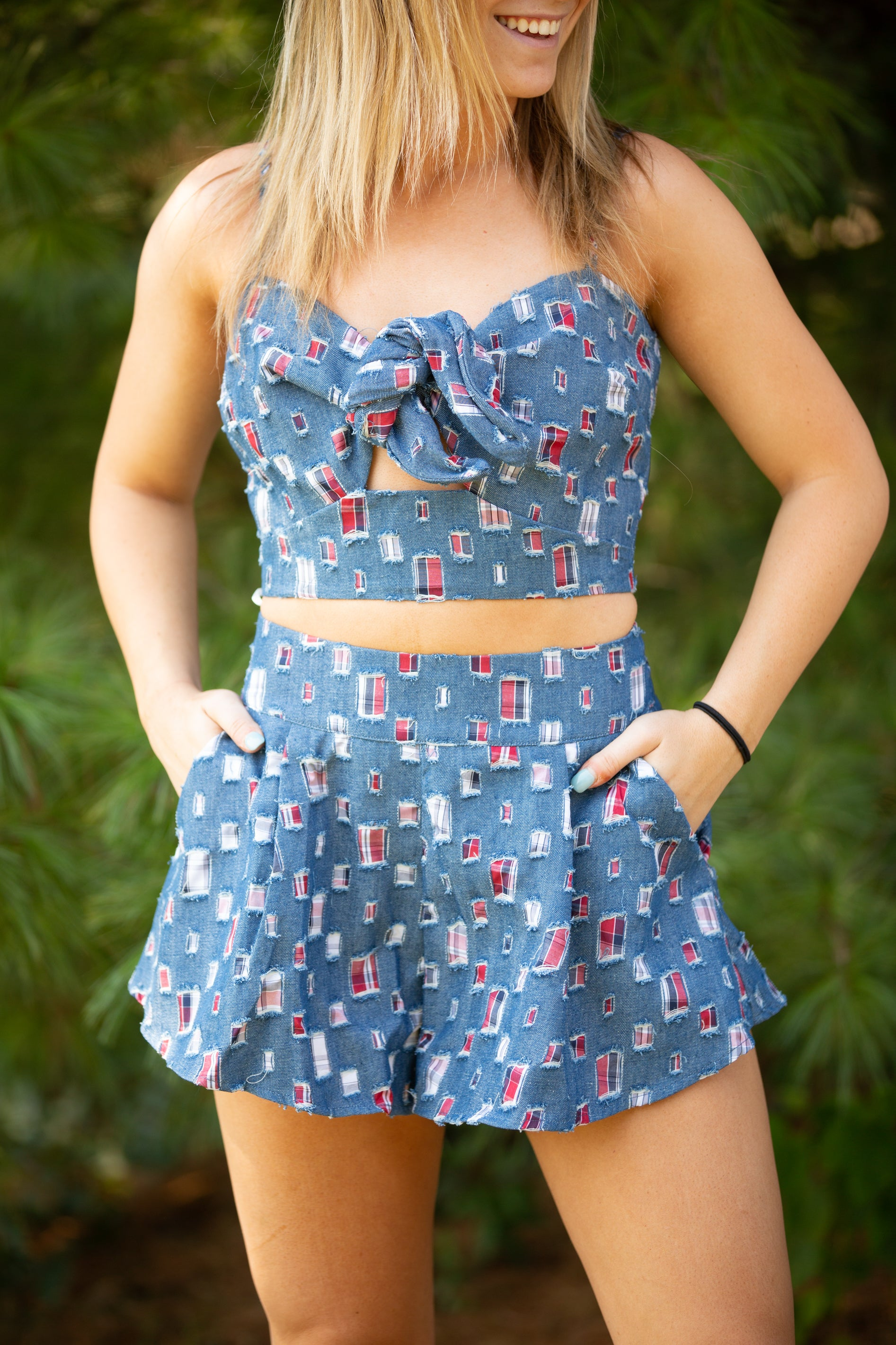 See You Again Denim Two Piece Set - impromptu boutique