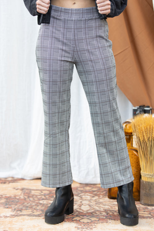Up To Speed Plaid Trouser Pants
