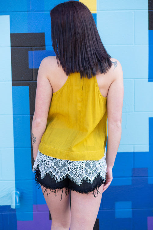 Nicely Put Lace Halter Tank - impromptu boutique