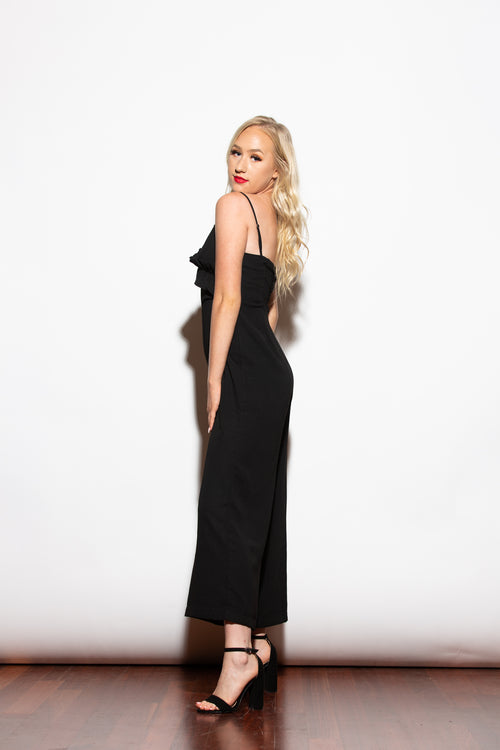 Run The Show Black Jumpsuit