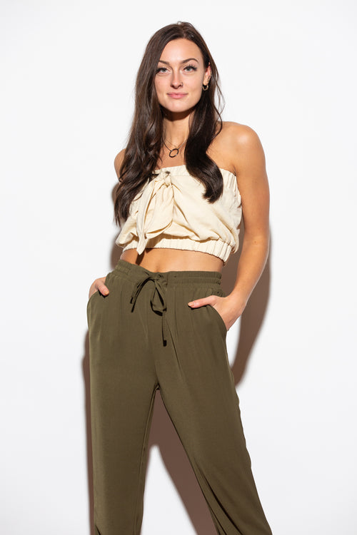 Keep It To Myself Olive Jogger Pants - impromptu boutique