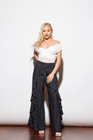 Feeling Good Stripe Ivory Top