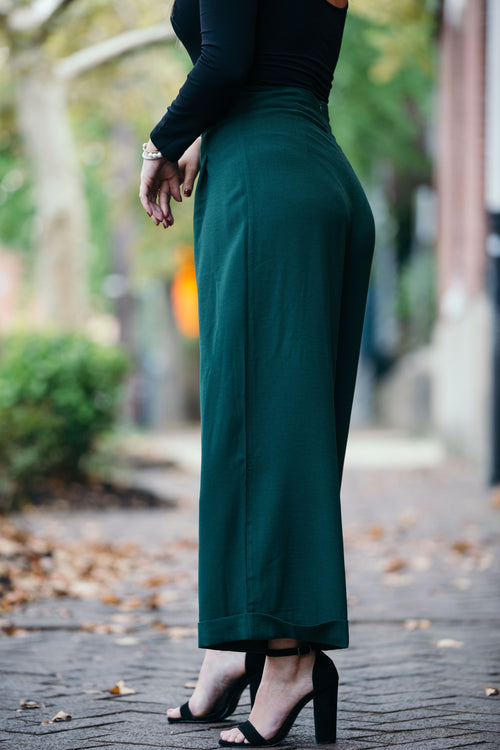My Kind Of Night Wide Leg Cropped Pants - impromptu boutique