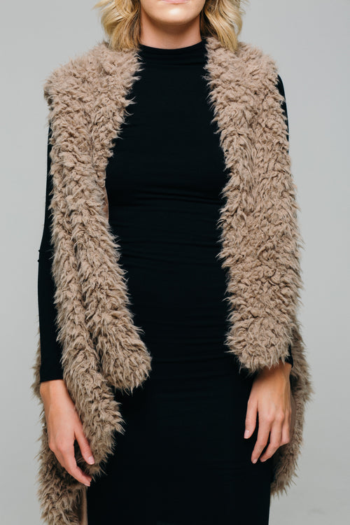 Upper East Side Faux Fur Vest