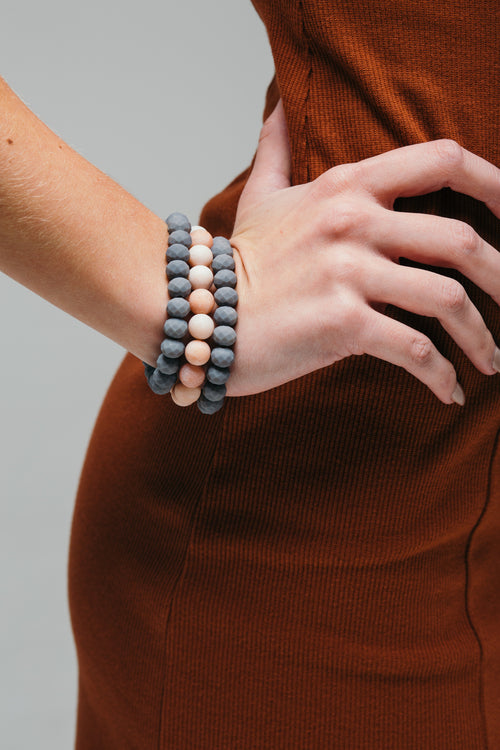 Outside The Lines Matte Bead Bracelet