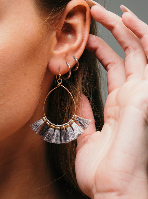 Just A Whisper Tassel Earrings - impromptu boutique