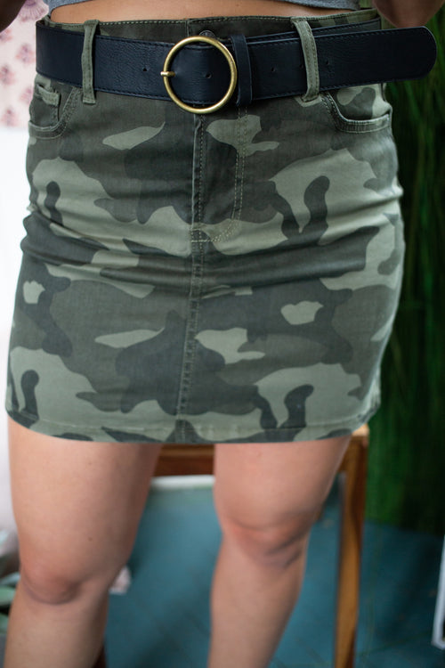 Do Your Best High Waist Camo Skirt - impromptu boutique