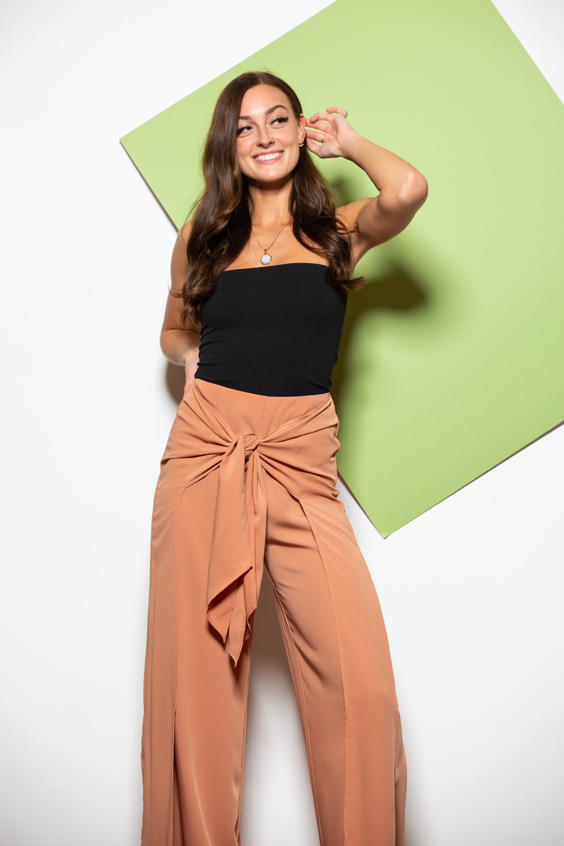 Play Nice Camel Trouser Pants - impromptu boutique