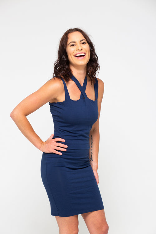 Knock Out Navy Dress - impromptu boutique