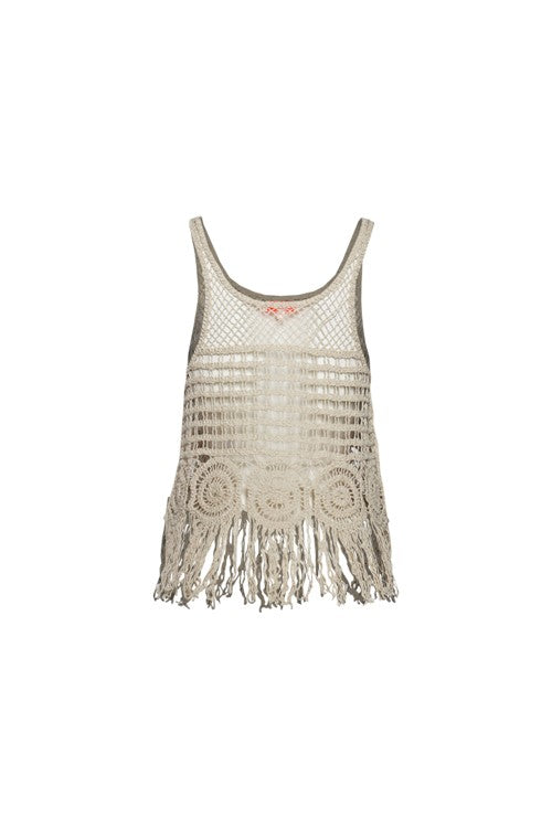 Catch My Vibe Crochet Tank - impromptu boutique