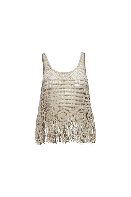 Catch My Vibe Crochet Tank