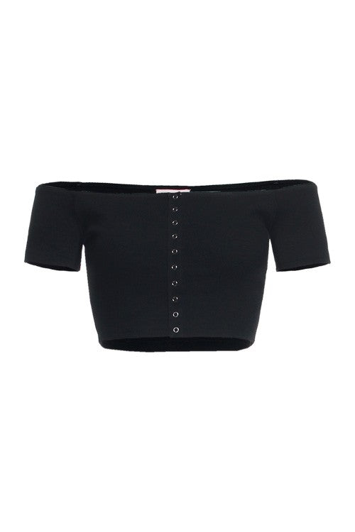 We Have Connections Off-The-Shoulder Crop Top