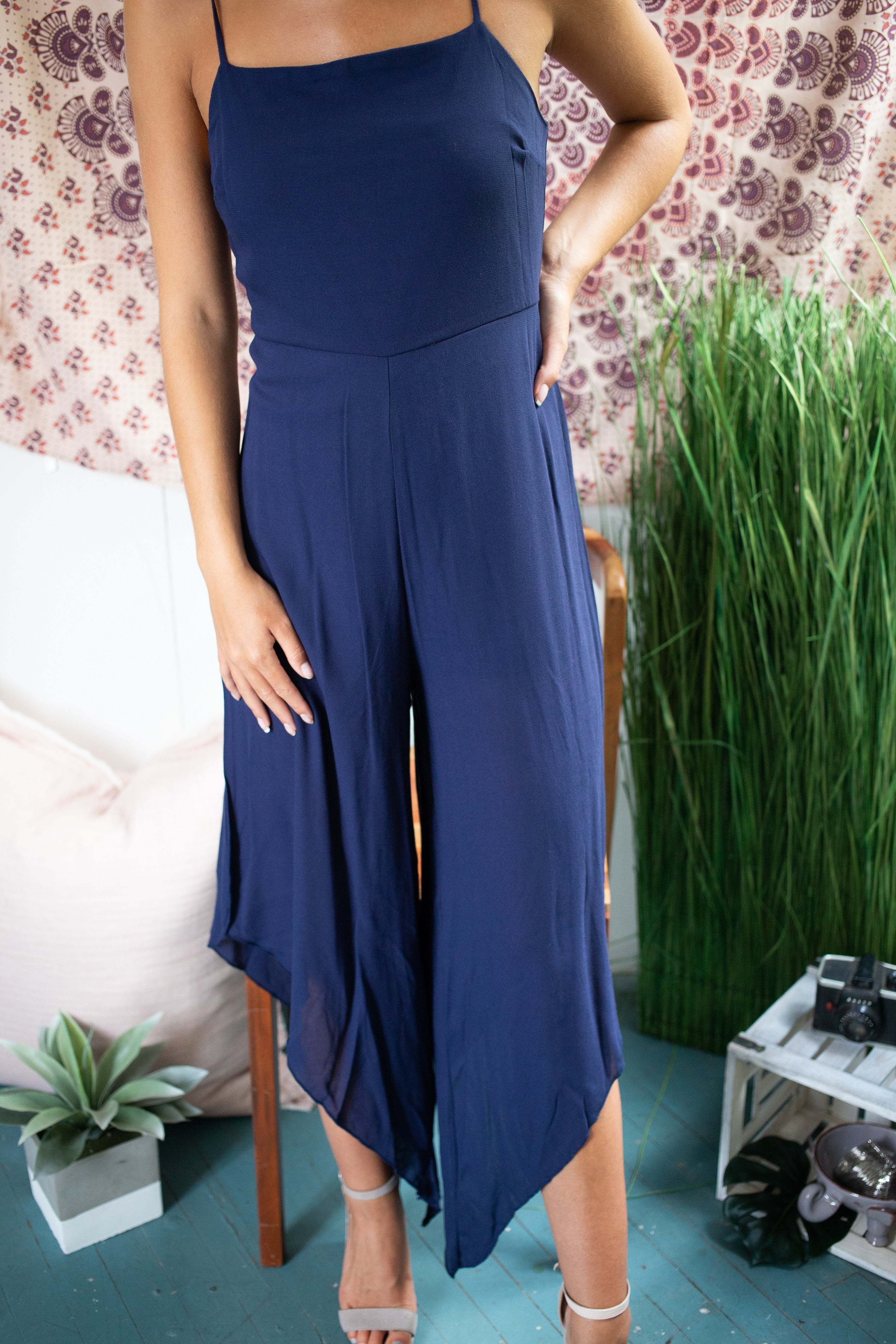 Make It Right Navy Jumpsuit - impromptu boutique