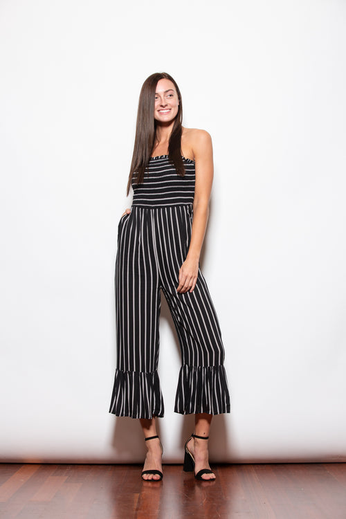 All She Wants Black Smock Jumpsuit - impromptu boutique