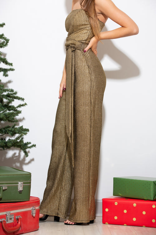 Queen Of The City Metallic Jumpsuit
