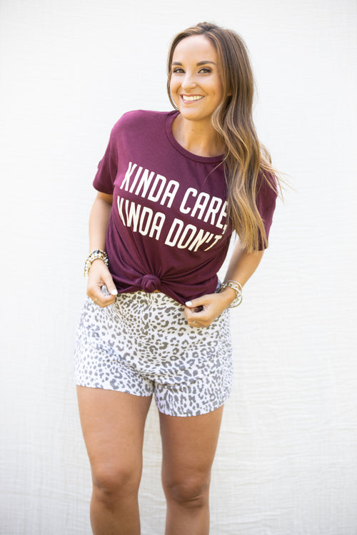 Where & When Casual Leopard Shorts