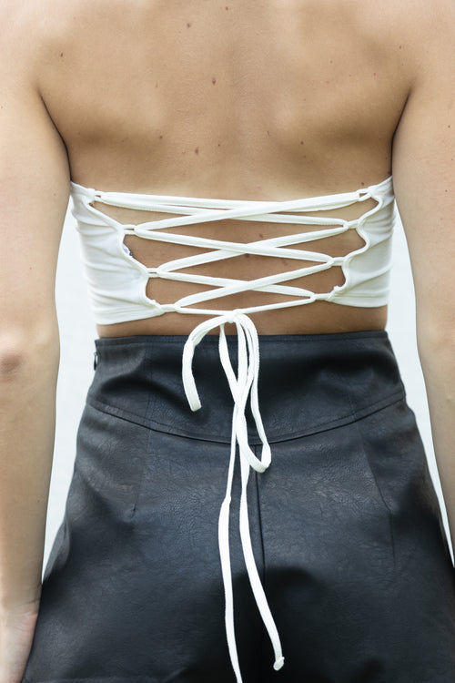 Back At It Strappy Tube Top: White