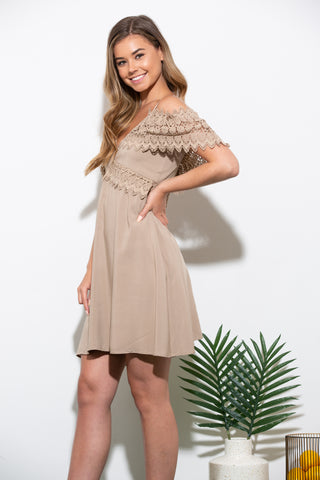 Before You Navy Lace Dress