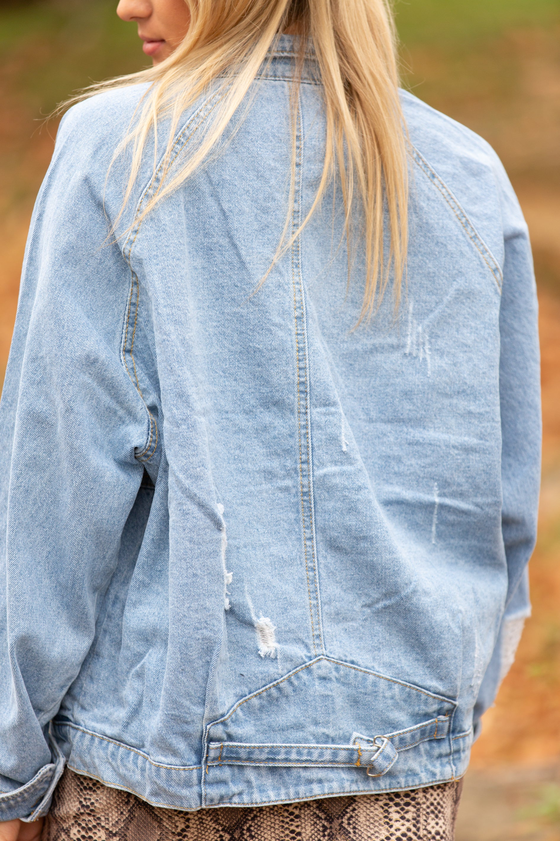 What's The Move Over-Size Denim Jacket