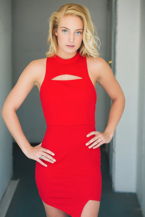 Right Reasons Red Cutout Dress