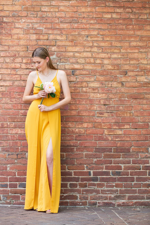 What It Takes Yellow Jumpsuit